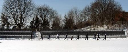 winterliches Lauftraining
