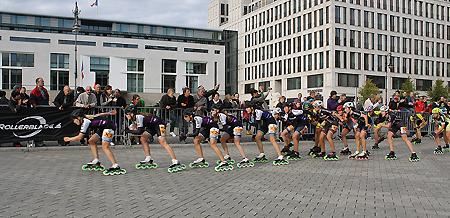Zieleinlauf kurz vor dem Brandenburger Tor